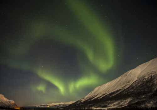 Northern Lights, Aurora Borealis Tromso, Norway.