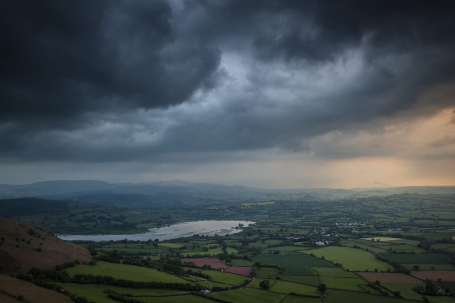 Mynydd Llangorse And The View Over Llangorse Lake