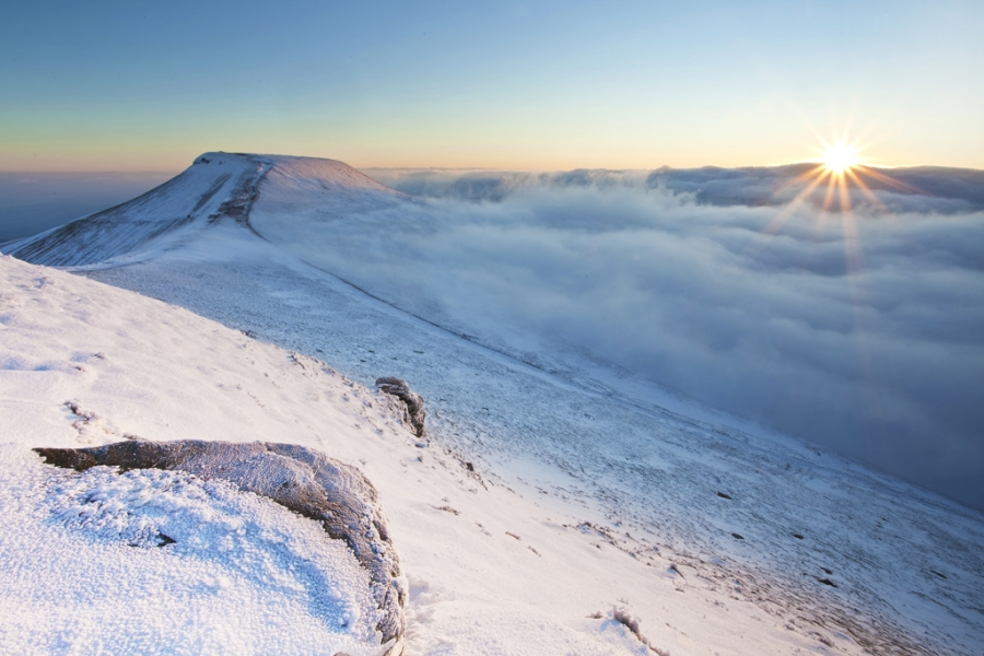 Morning Winter Pen Y Fan Sunrise, Brecon Beacons