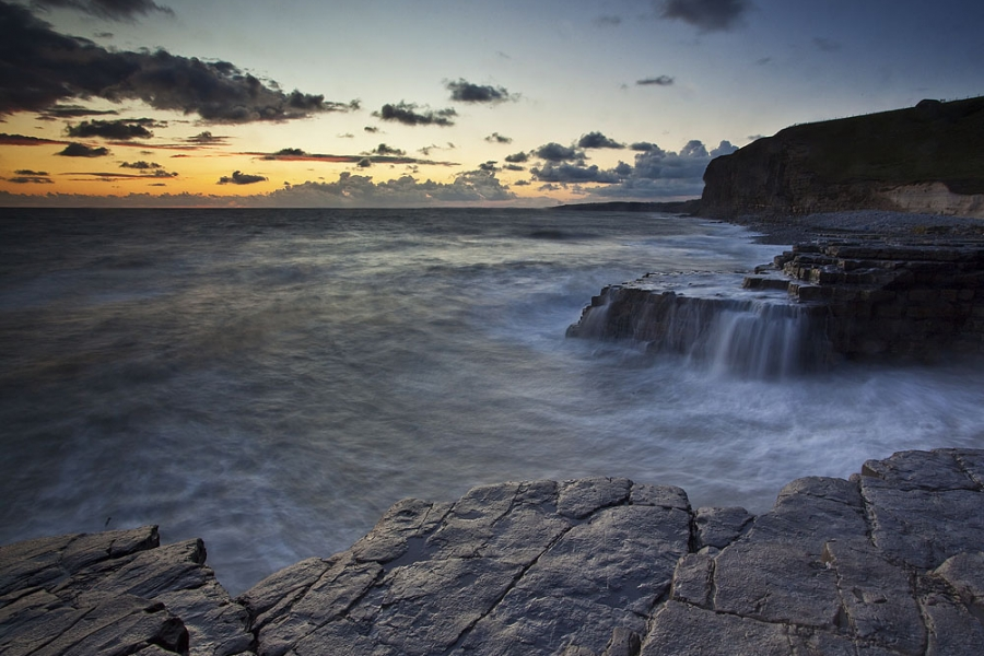 Waterfalls Of Monknash, Glamorgan Heritage Coastline