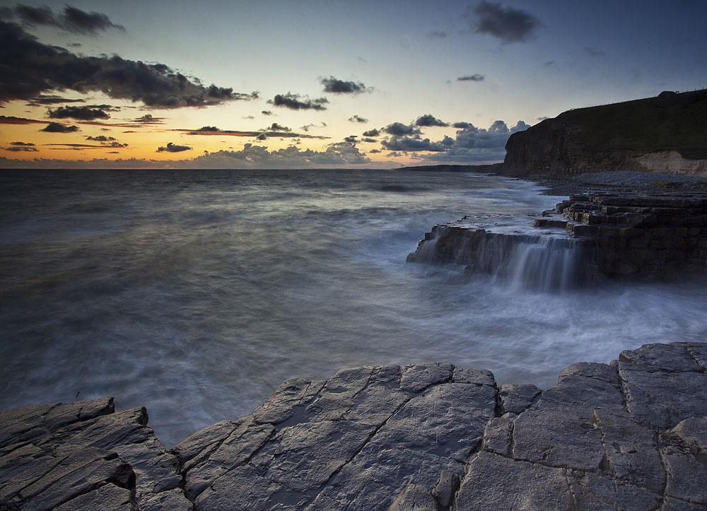 Monknash Waterfalls, Heritage Coastline, South Wales