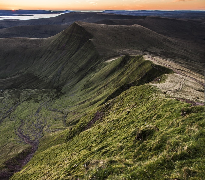 The Brecon Beacons At Sunset