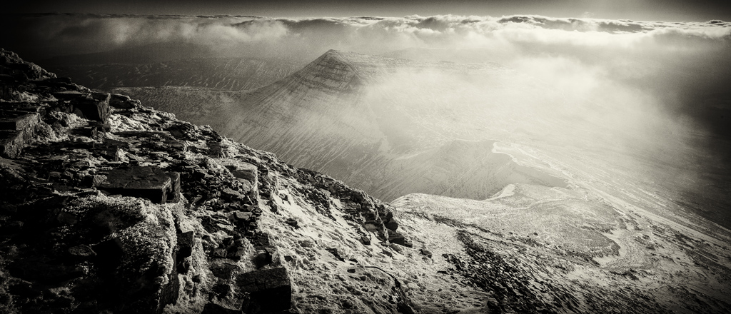 The Slopes Of The Brecon Beacons During A Harsh Winter
