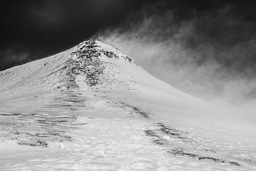 Corn Du Snow And Spindrift In The Brecon Beacons