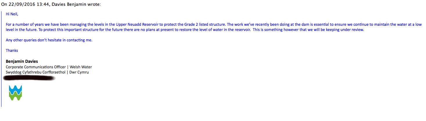 Upper Neuadd WW email