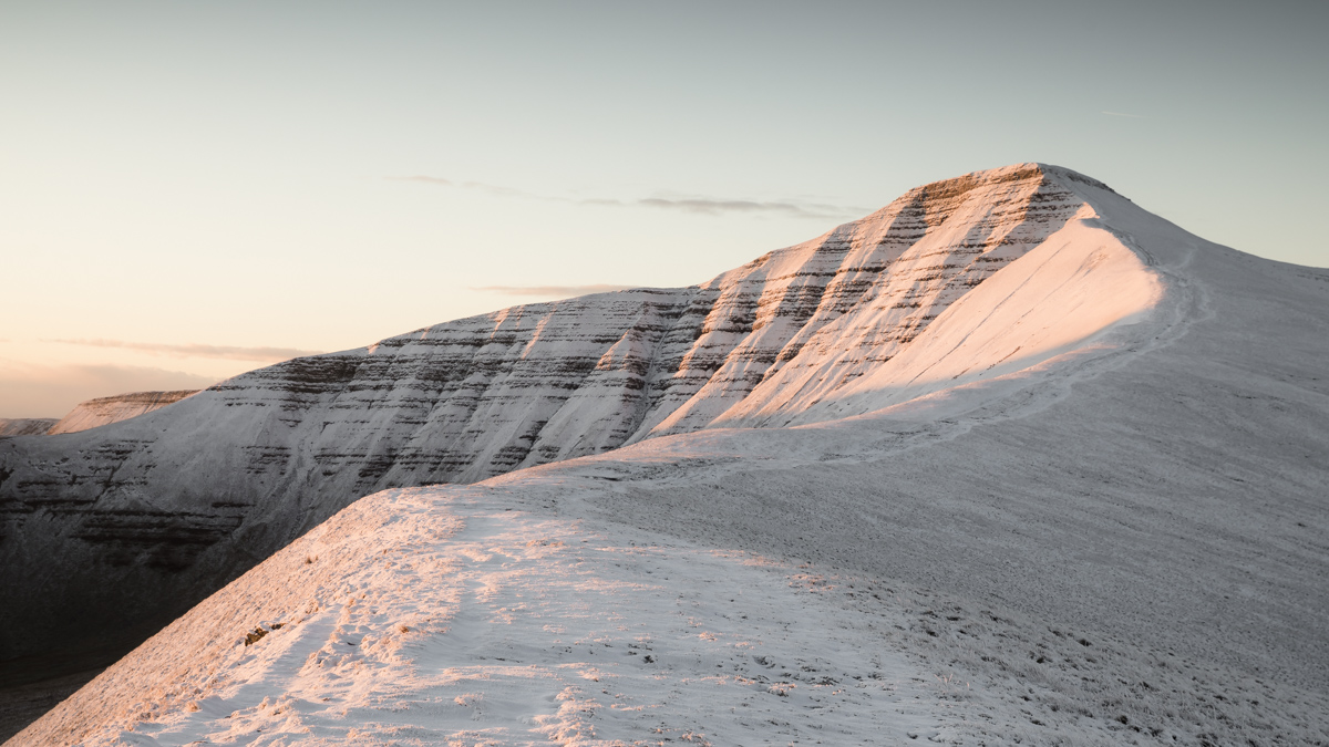 First Snow Sunrise On Pen Y Fan 17th January 2019