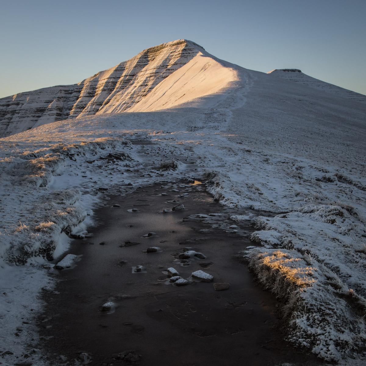 First snow sunrise-on-pen-y-fan