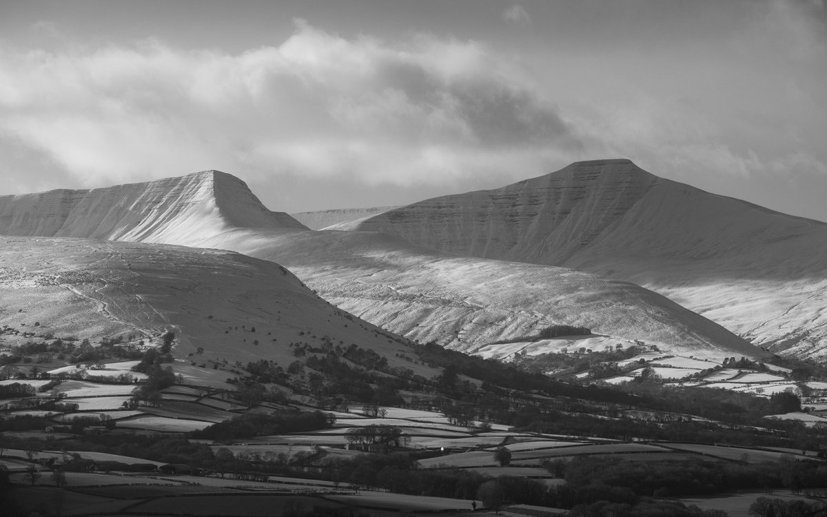 Snow Capped Brecon Beacons